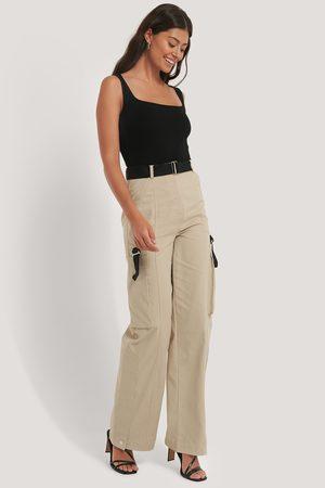 NA-KD Kvinder Cargo bukser - Detailed Cargo Pants