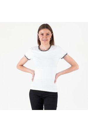 Calvin Klein Logo trim ss top