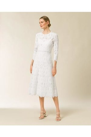 Ivy & Oak Kvinder Midikjoler - Midi Bridal Lace Dress