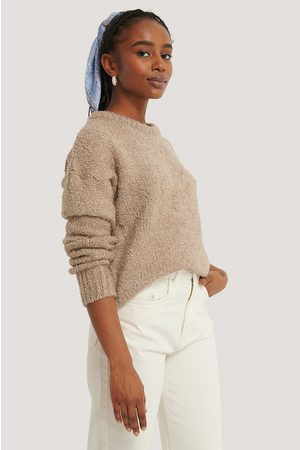 NA-KD Structured Knitted Sweater