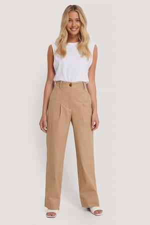 NA-KD Kvinder Chinos - Heavy Cotton-blend Pants