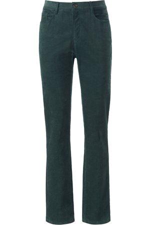 Brax Feminine Fit-buks i fin fløjl Fra Feel Good grøn