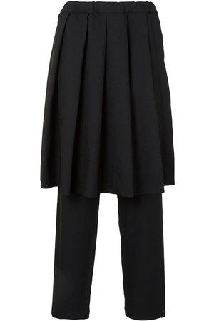 Comme des Garçons Bukser med plisseringer og nederdel-panel