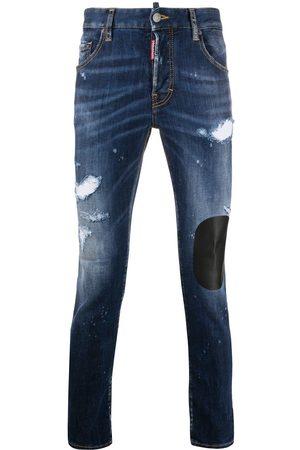 Dsquared2 Skinny-jeans med slitageeffekt og patchwork