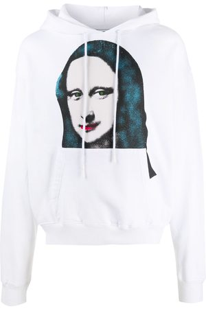 OFF-WHITE MONALISA OVER HOODIE WHITE BLACK