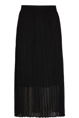 Just Female Roe Pleated Skirt Lang Nederdel