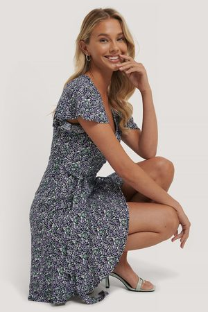 Trendyol Belted Flower Pattern Mini Dress