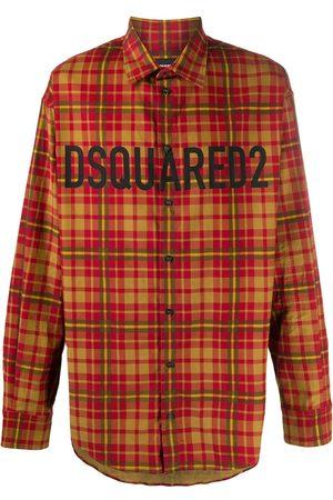 Dsquared2 Mænd Langærmede - Ternet skjorte med logotryk