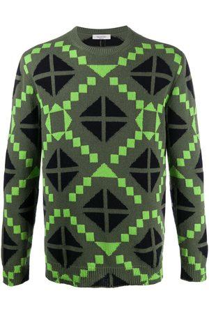 VALENTINO Mænd Strik - Geometric print jumper
