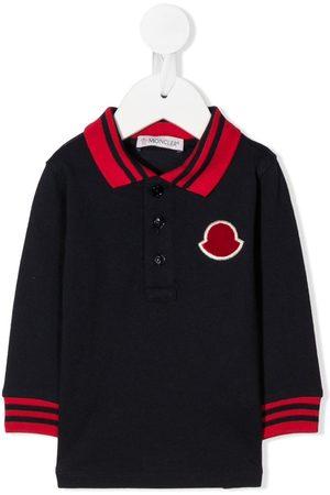 Moncler Poloer - Logo patch polo shirt