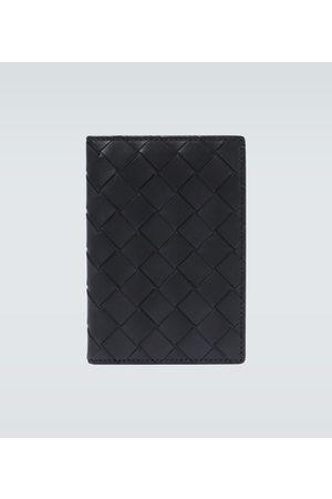 Bottega Veneta Intrecciato leather passport wallet