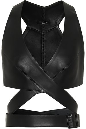 Alaïa Leather bustier