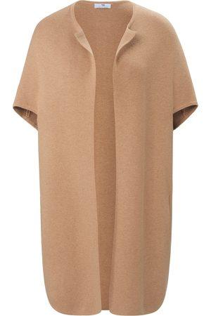 Peter Hahn Coat-cardigan rund hals Fra beige