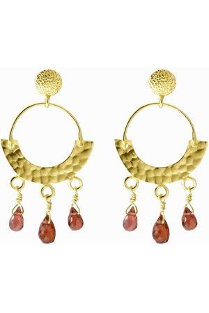 Dinari Jewels Garnet Etno Earrings