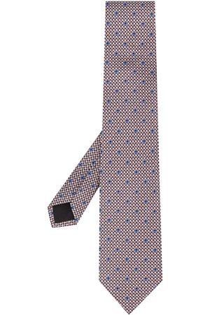 Salvatore Ferragamo Vævet slips med Gancini-tryk