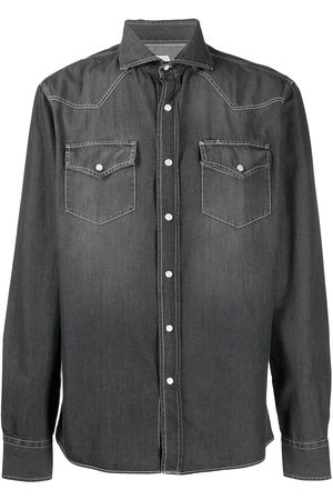 Brunello Cucinelli Spread collar denim shirt