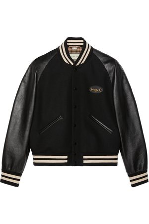 Gucci Felt and leather bomber jacket