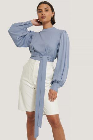 NA-KD Kvinder Bluser - Front Tie Blouse