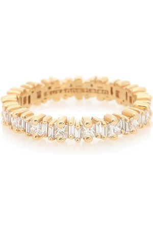 Suzanne Kalan Fireworks 18kt gold ring with diamonds