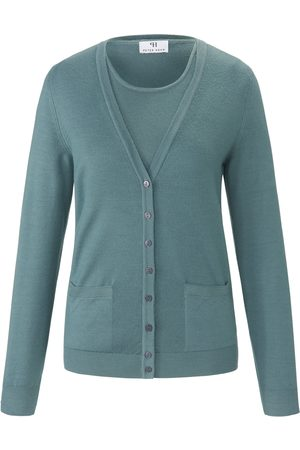 Peter Hahn Twinset 100% ren ny uld Fra grøn