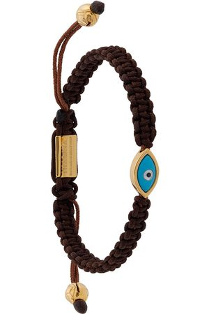 Nialaya Mænd Armbånd - Evil Eye armbånd med snor