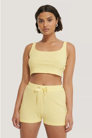 NA-KD Ribbed Lounge Cropped Top