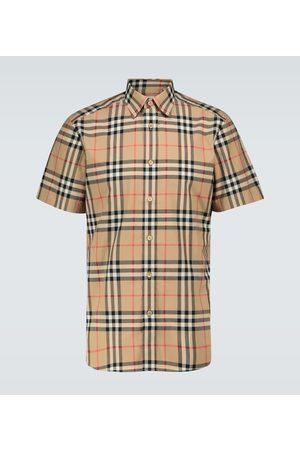 Burberry Mænd Kortærmede - Caxton checked short-seeved shirt