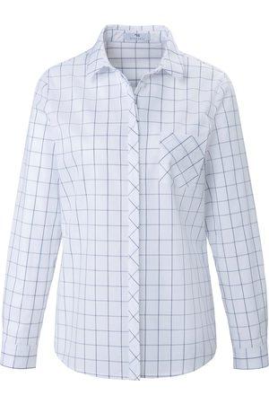 Peter Hahn Skjorte gitterternet dessin Fra hvid