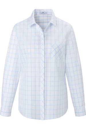 Peter Hahn Kvinder Langærmede - Skjorte gitterternet dessin Fra hvid