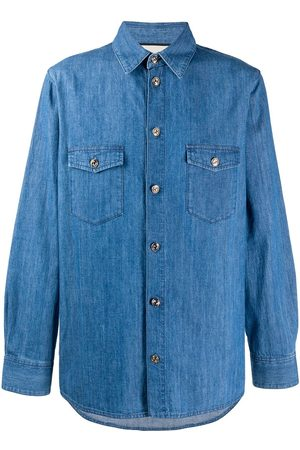 Gucci Interlocking G buttons denim shirt