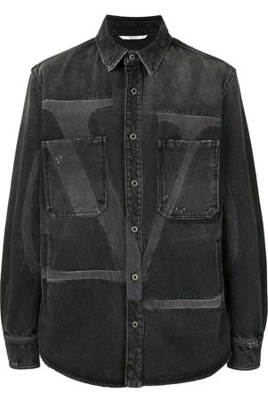 VALENTINO Deconstructed VLOGO denim shirt