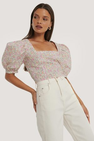 NA-KD Square Neck Puff Sleeve Top