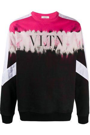 VALENTINO Mænd Sweatshirts - Sweatshirt med VLTN-logotryk og paneler