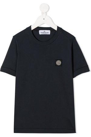 Stone Island T-shirt med rund hals og logomærke
