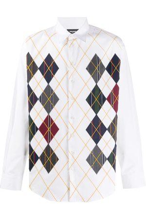 Dsquared2 Skjorte med diamant-detalje