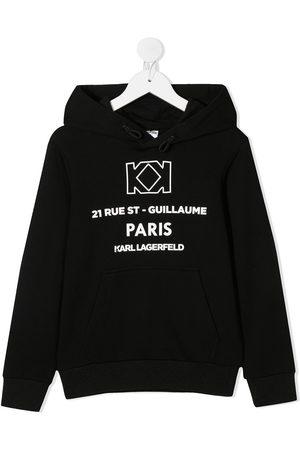 Karl Lagerfeld Hoodies - Hætte med snoretræk og logotryk
