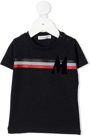 Moncler Tri-colour stripe logo T-shirt