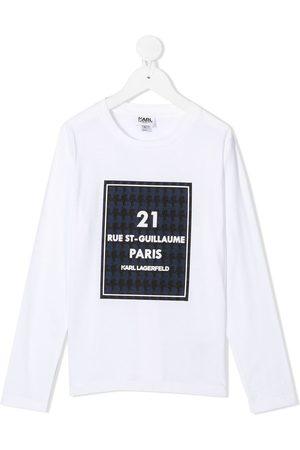 Karl Lagerfeld Langærmet Rue St-Guillaume top