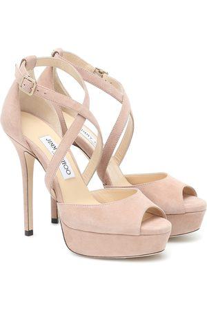Jimmy Choo Kvinder Sandaler - Jenique 125 suede platform sandals