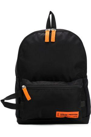 Heron Preston Logo patch top handle backpack