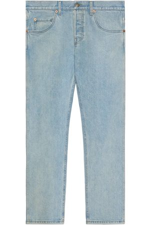 Gucci Washed denim tapered trouser