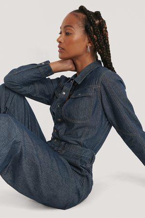 NA-KD Kvinder Jumpsuits - Oversized Boiler Denim Suit