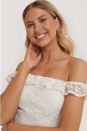 Pamela x NA-KD Reborn Kvinder Toppe - Off Shoulder Lace Top