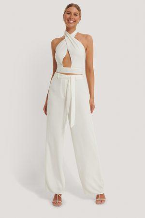 Kim Feenstra x NA-KD Kvinder Bukser - Loose Fit Belt Trousers