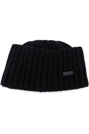 Saint Laurent Logo plaque cashmere beanie