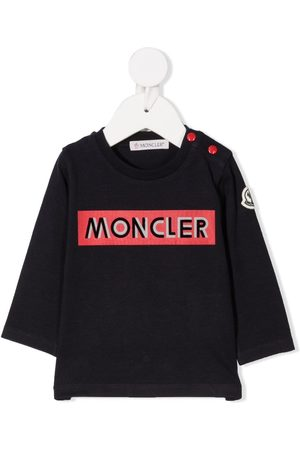 Moncler Langærmede - Logo print long sleeve t-shirt