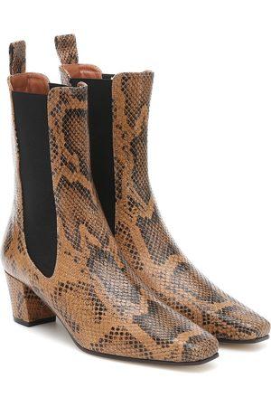 PARIS TEXAS Kvinder Ankelstøvler - Snake-effect leather ankle boots