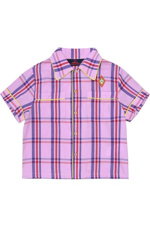 The Animals Observatory Piger Toppe - Kangaroo checked cotton shirt