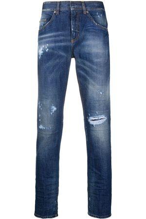 Neil Barrett Jeans med lige ben og slitageeffekt
