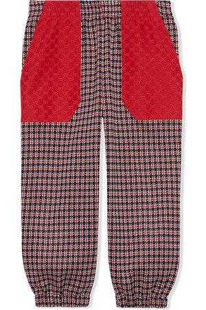 Gucci Houndstooth-ternede bukser i bomuld til børn
